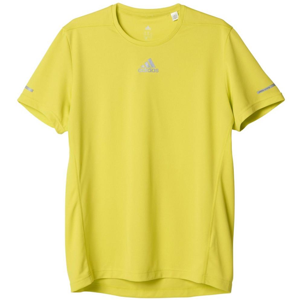 Run T Shirt Mc Homme ADIDAS JAUNE pas cher T shirts de