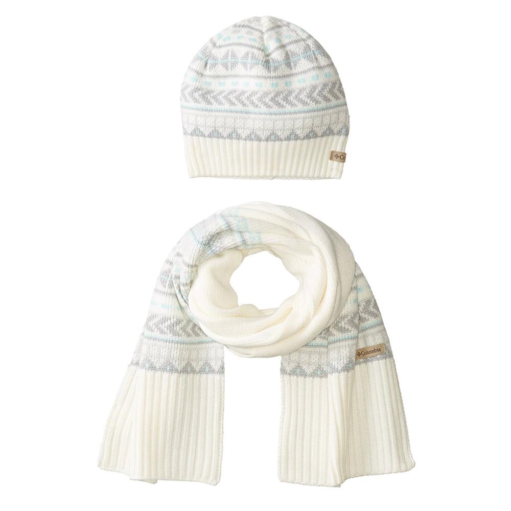 Winter Worn Bonnet Echarpe Femme Columbia Blanc Pas Cher