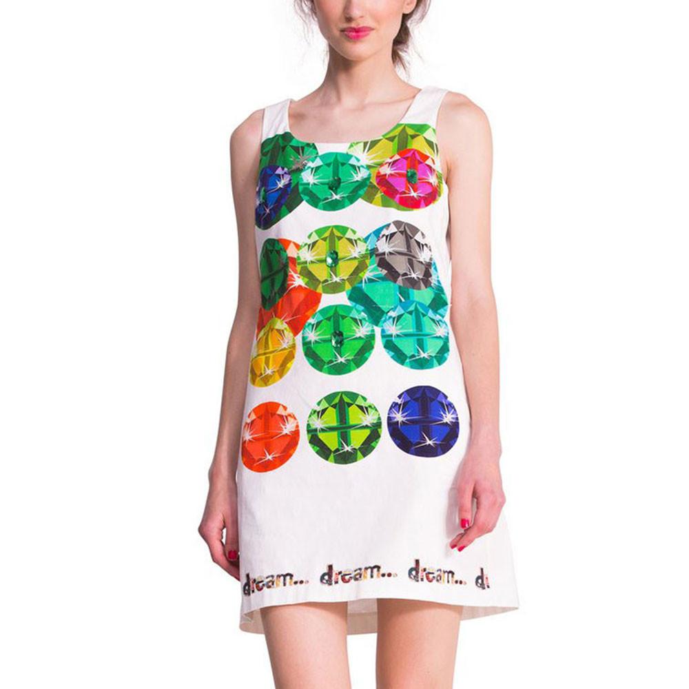 Sammi Robe Femme DESIGUAL MULTICOLORE pas cher - Robes femme ... 01b680746480