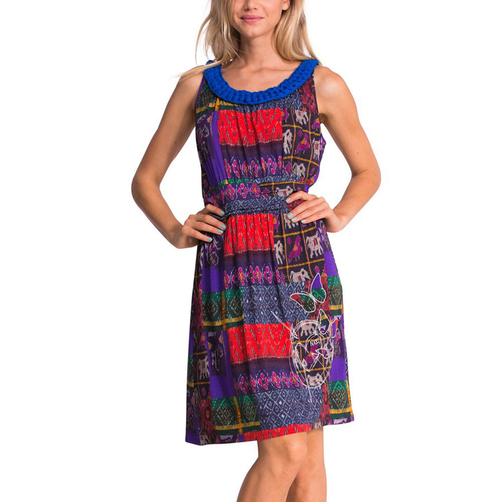 Tres Robe Femme Desigual Multicolore Pas Cher Robes Femme Desigual Discount