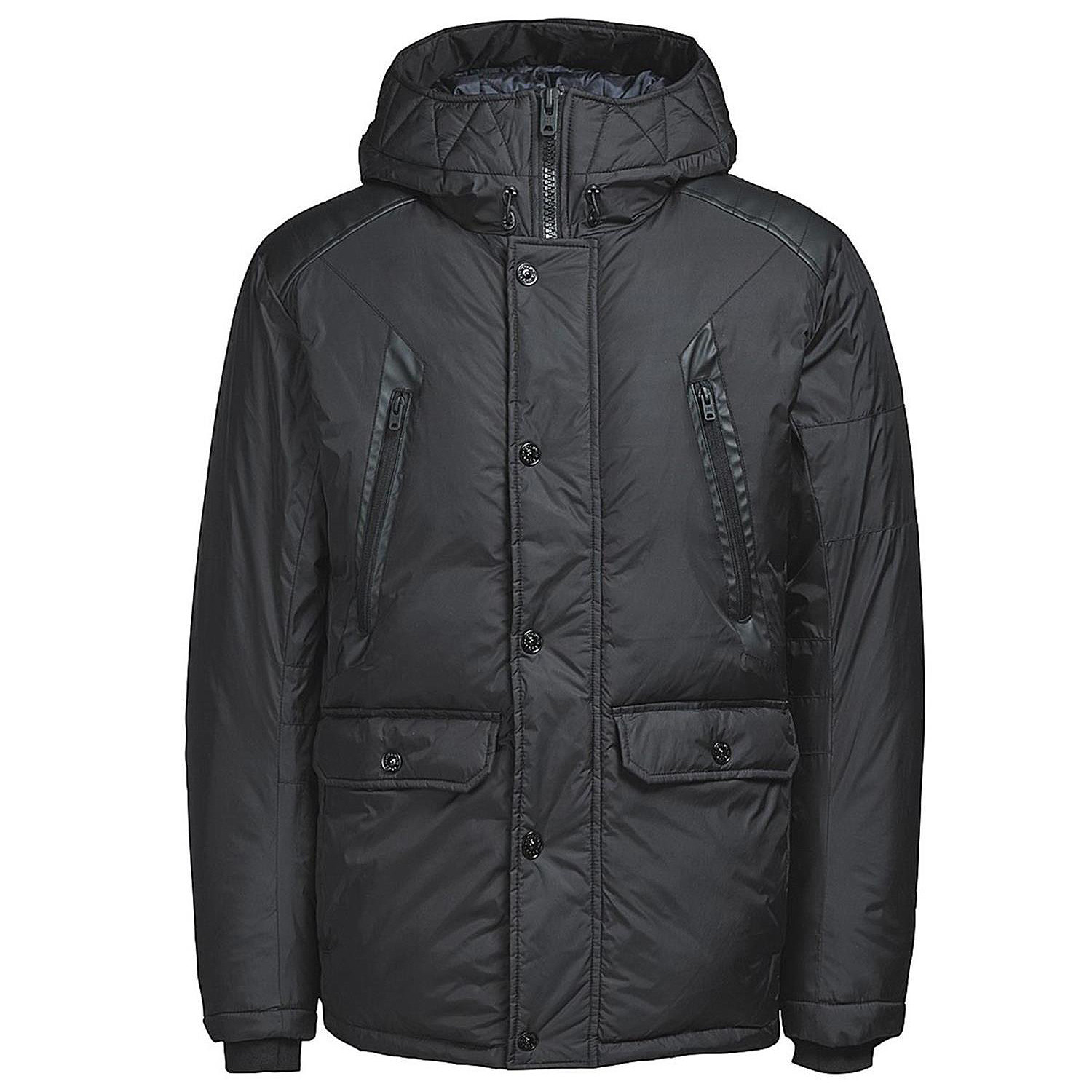 graf parka homme jack and jones noir pas cher parkas homme jack and jones discount. Black Bedroom Furniture Sets. Home Design Ideas