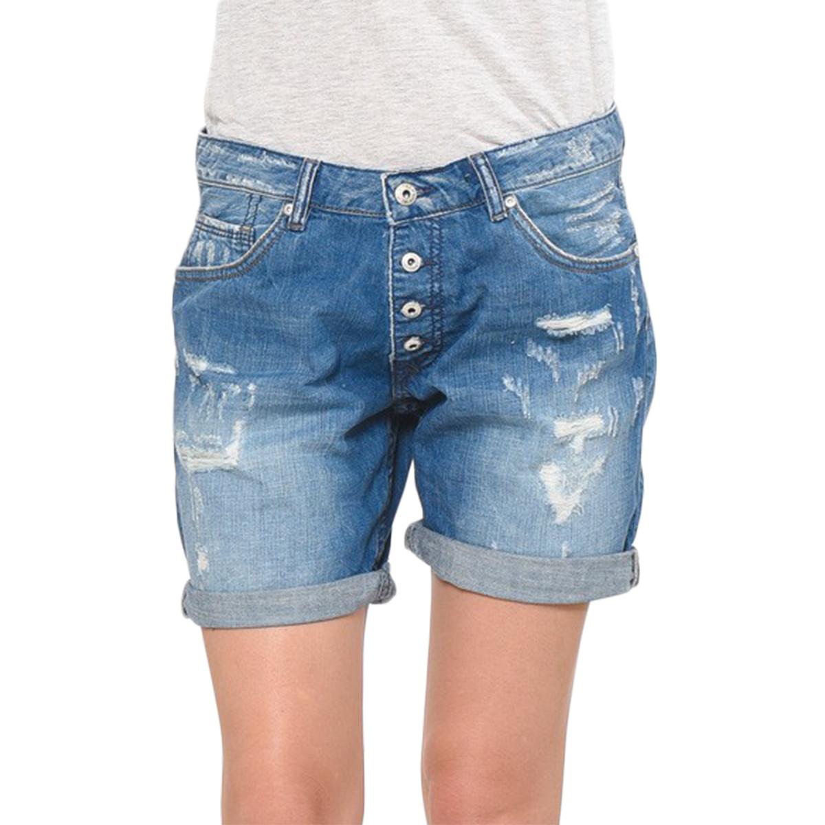 soldes short jean femme