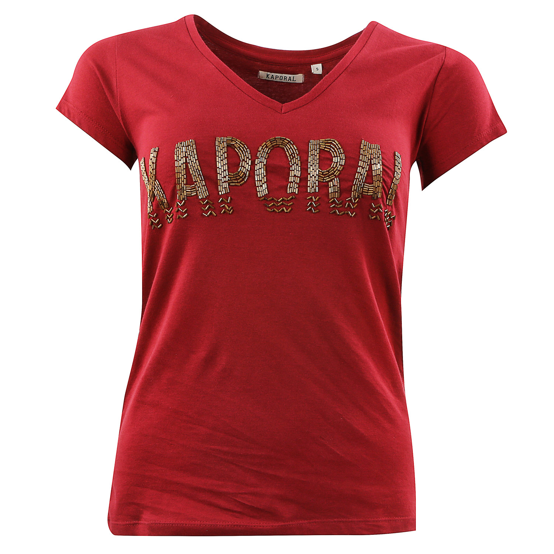 f17d8c2c25538 Toupo T-Shirt Mc Femme KAPORAL ROUGE pas cher - T-shirts à manches ...