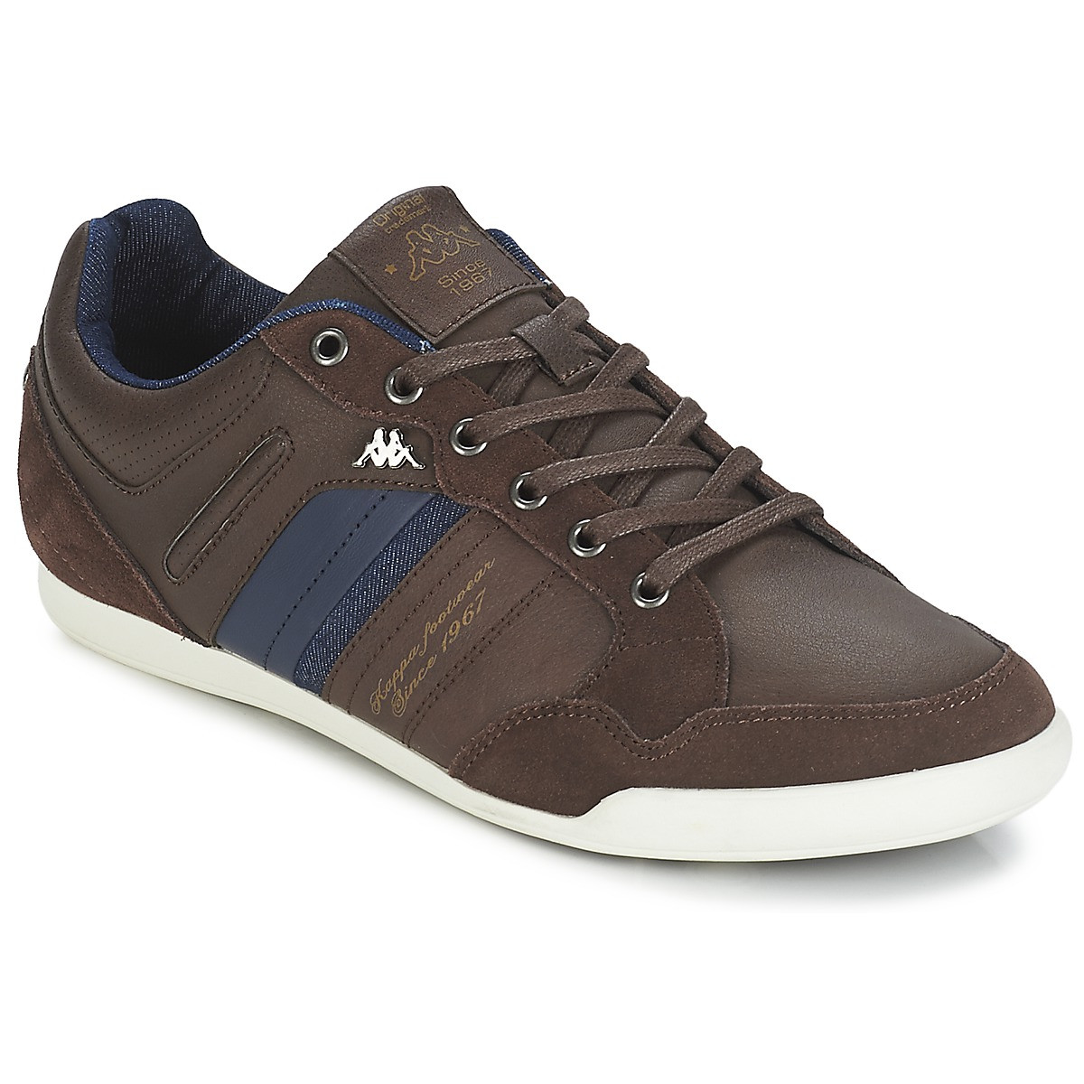 Chaussure homme Baskets KAPPA pas cher basses Homme Kinay A MARRON TOiPXwZuk