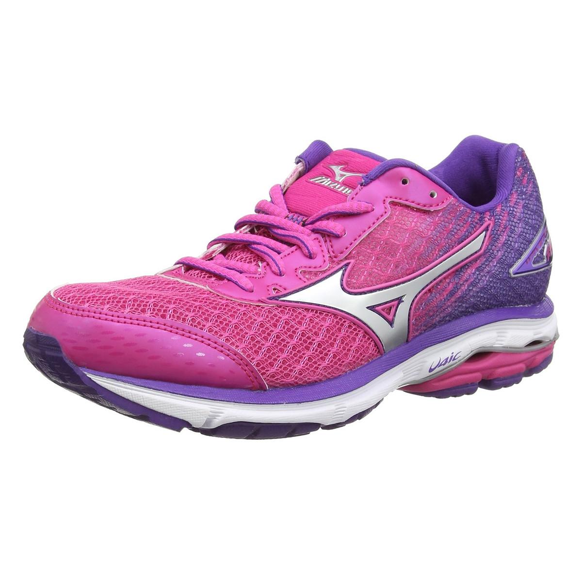 1fb7b42e3a3 Wave Rider 19 Chaussure Femme MIZUNO ROSE pas cher - Chaussures de ...