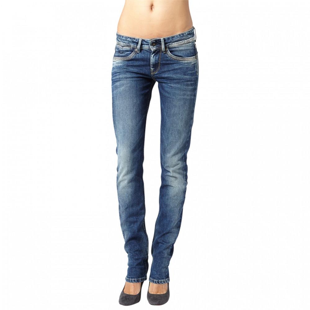 3e85ba36ca9 New Perival Longueur 34 Jeans Femme PEPE JEANS BLEU pas cher - Jeans ...