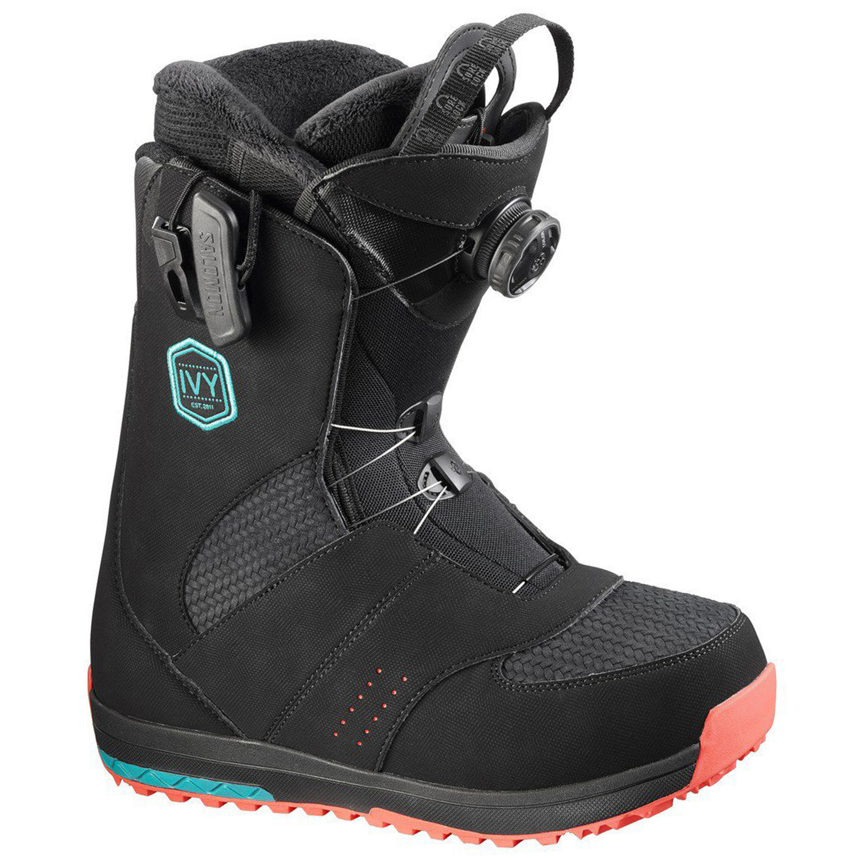 ivy boa sj boots snowboard femme noir pas cher boots de snowboard salomon discount. Black Bedroom Furniture Sets. Home Design Ideas
