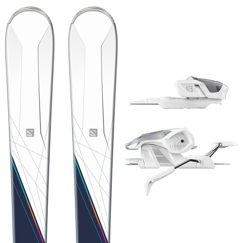E W-Max 6 Skis + E Lithium 10 Fixations Femme