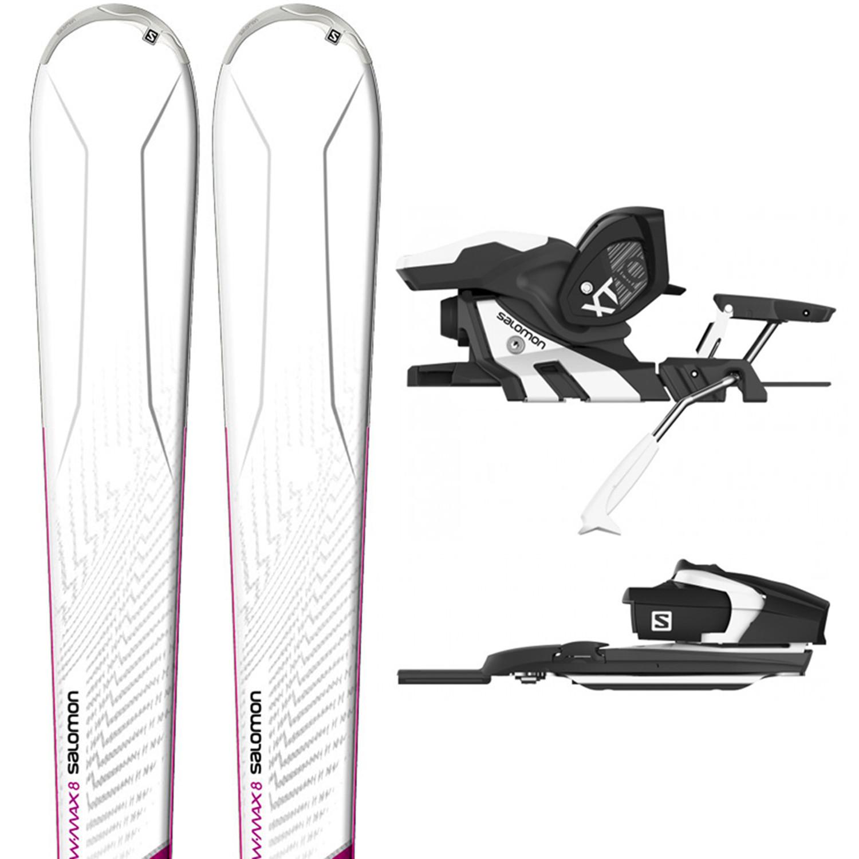 W-Max 8 Ski + Xt10 C90 Wh Fixations Femme