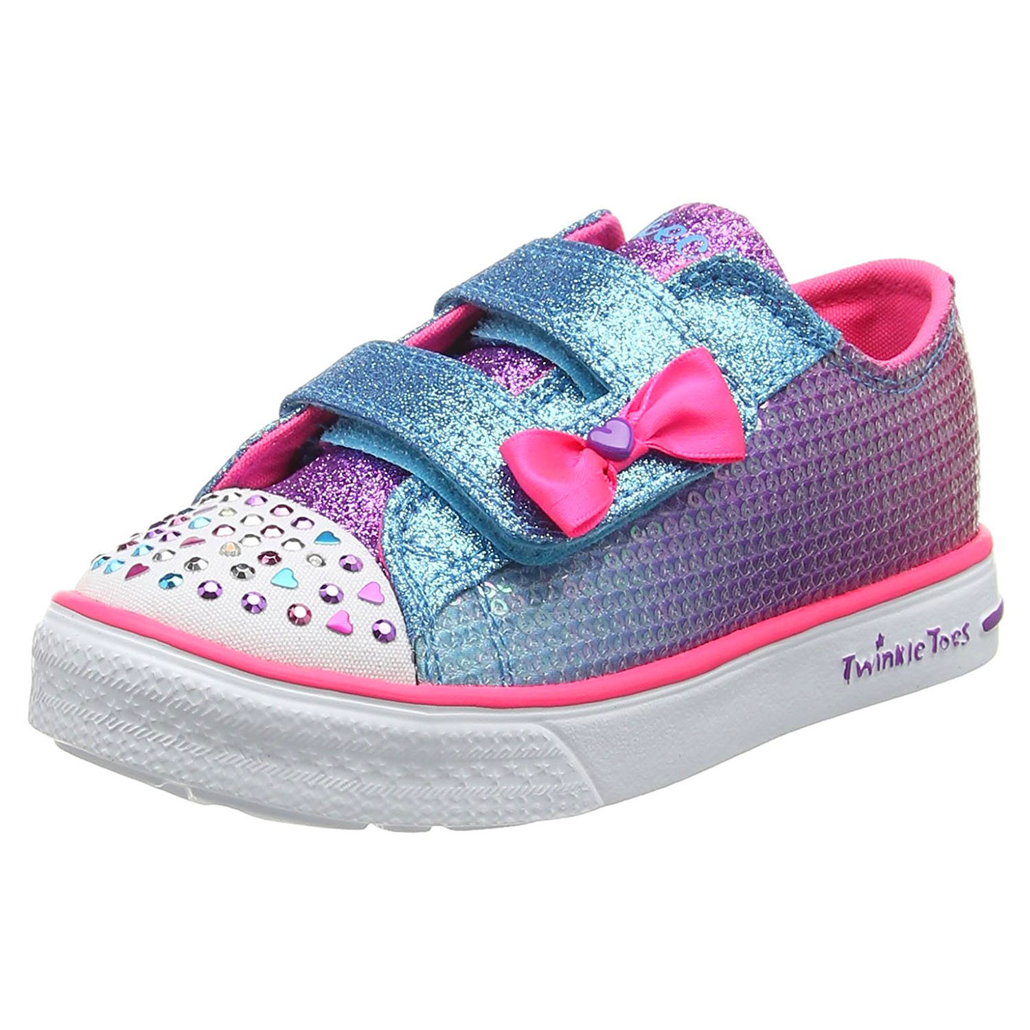 Twinkles Chaussure Multicolore Toes Cher Bébé Fille Skechers Pas 76YgbfIyv