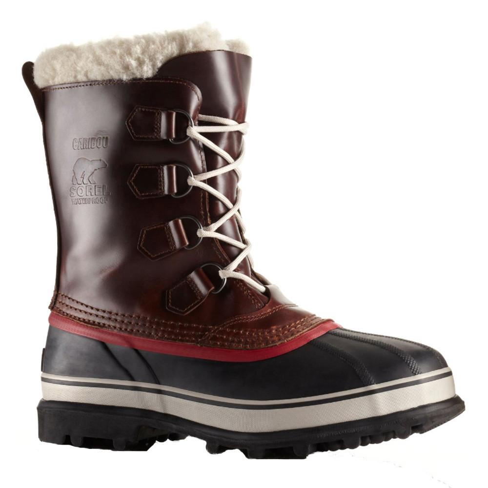 8949caf5391b0 Caribou Wool Bottes Neige Homme SOREL MARRON pas cher - Chaussures ...