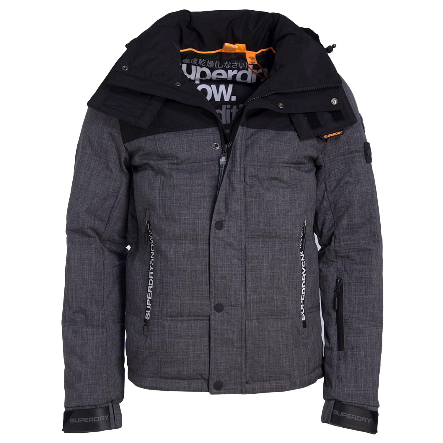 box snow blouson ski homme gris pas cher blousons ski et snowboard superdry discount. Black Bedroom Furniture Sets. Home Design Ideas
