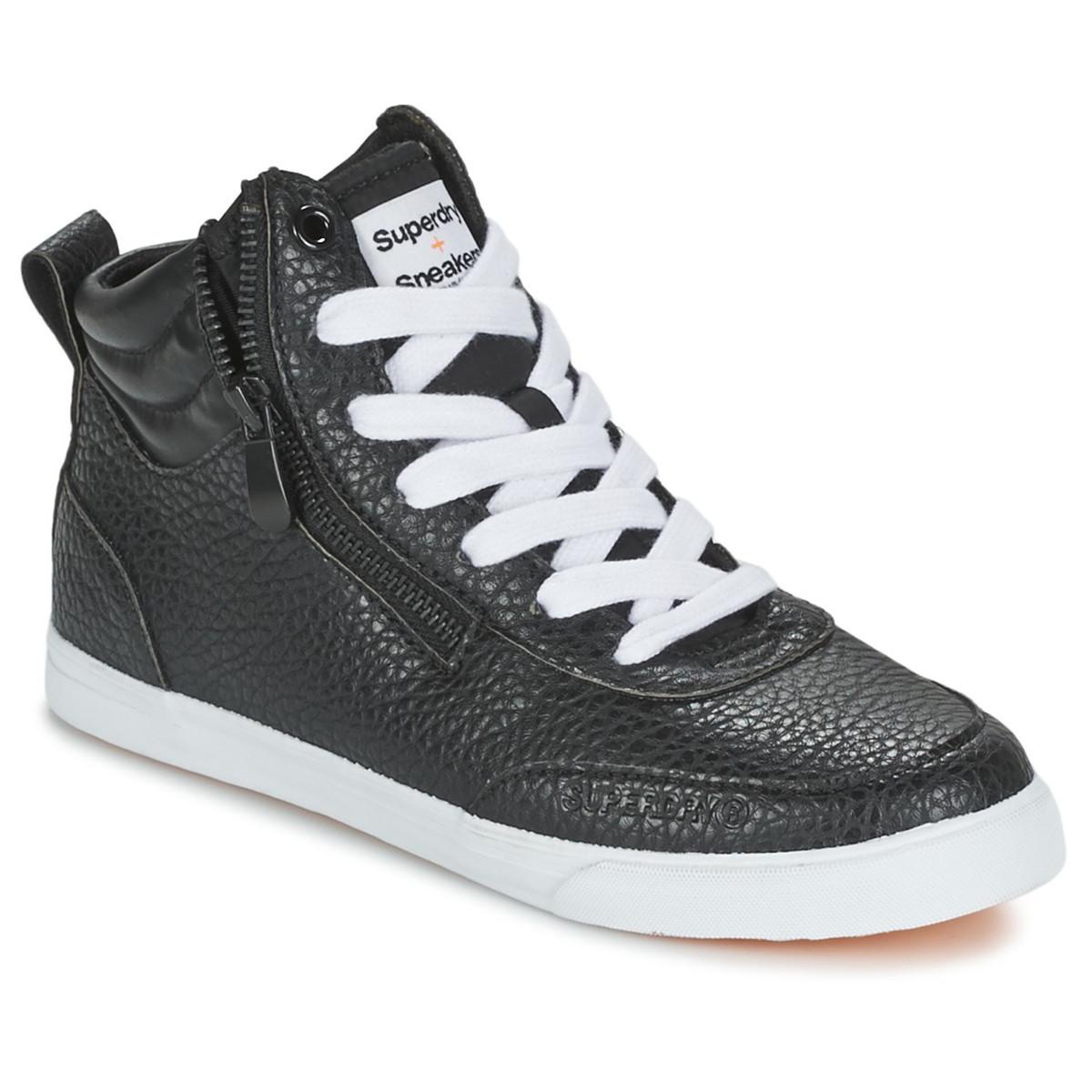 Chaussure Superdry Cher Nano Sneaker Femme Zip Pas Baskets Noir 00pxB