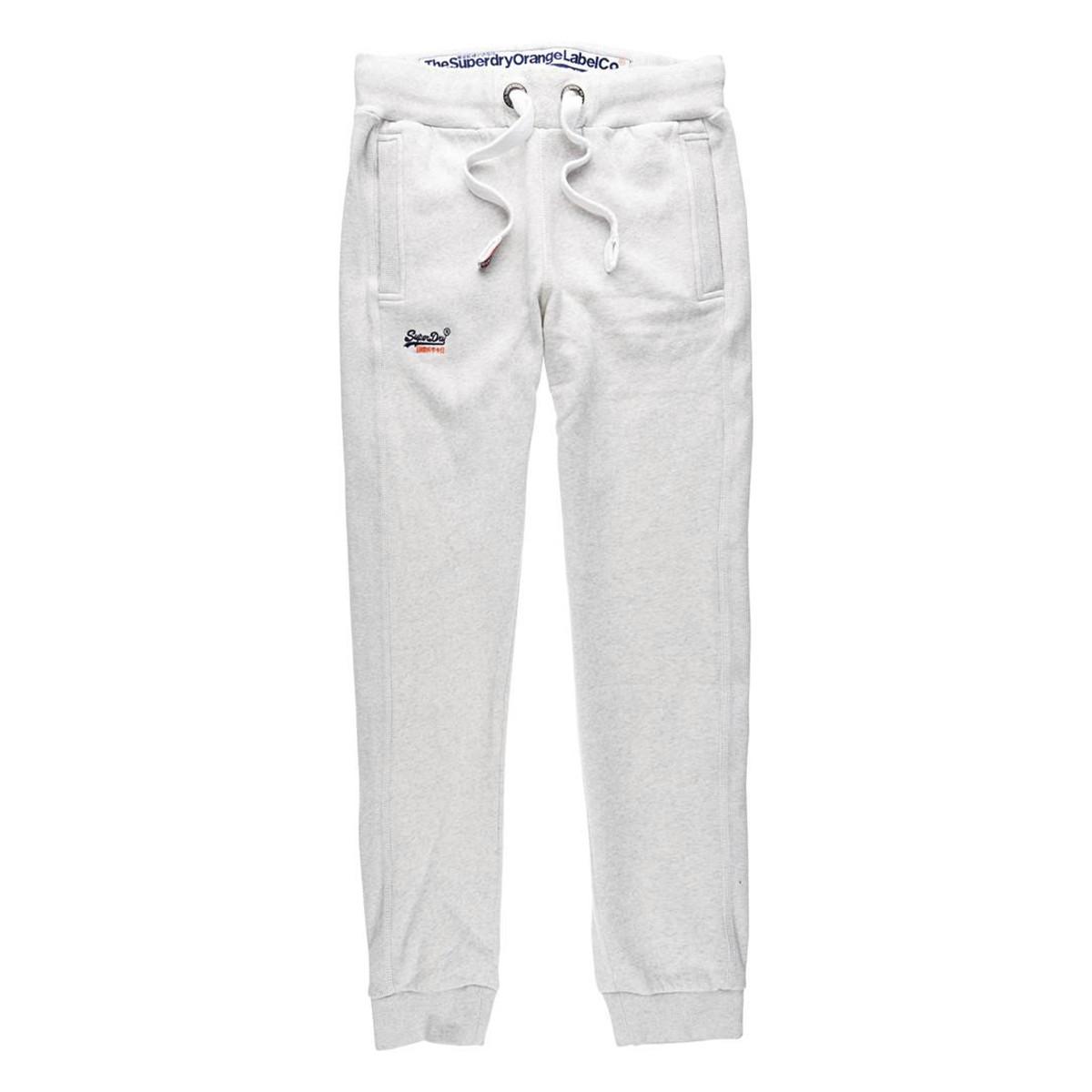 Orange Label Slim Pantalon Homme SUPERDRY BLANC pas cher