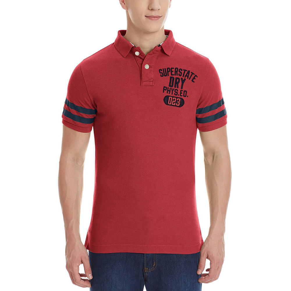 7ac5ccf8401f Pas Cher Super Polos Polo Homme State Superdry Rouge Ss Mc w0xRwfaq
