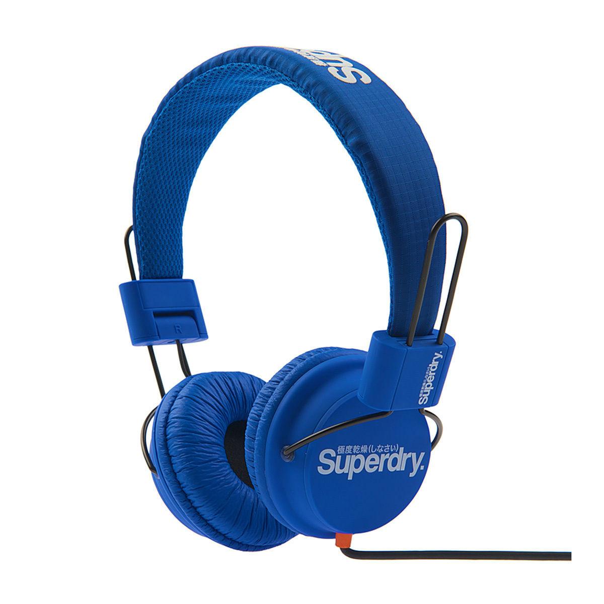 Technical Casque Audio Unisexe Superdry Bleu Pas Cher Casque Audio