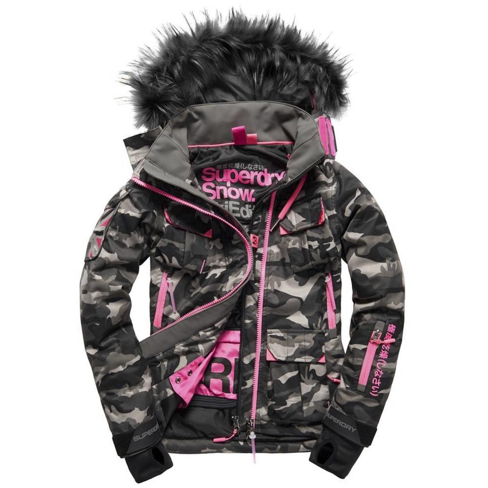 belles chaussures limpide en vue top design Ultimate Snow Service Blouson Ski Femme SUPERDRY VERT pas ...