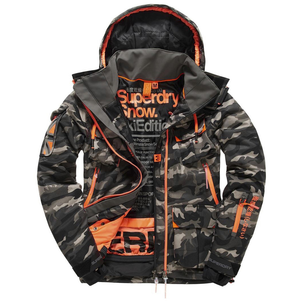 ultimate snow service blouson ski homme pas cher blousons ski et snowboard superdry discount. Black Bedroom Furniture Sets. Home Design Ideas