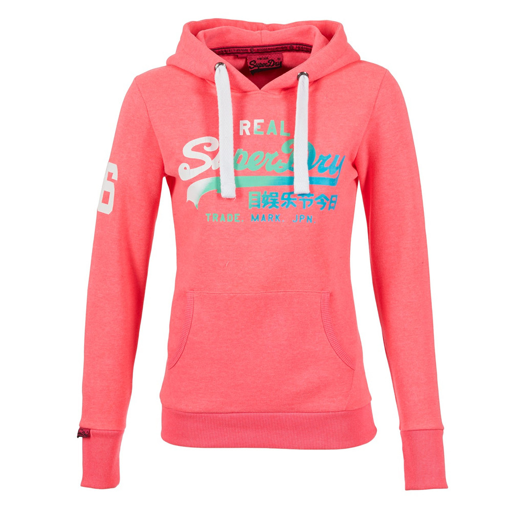 Vintage Logo Duo Sweat Capuche Femme SUPERDRY ROSE pas cher