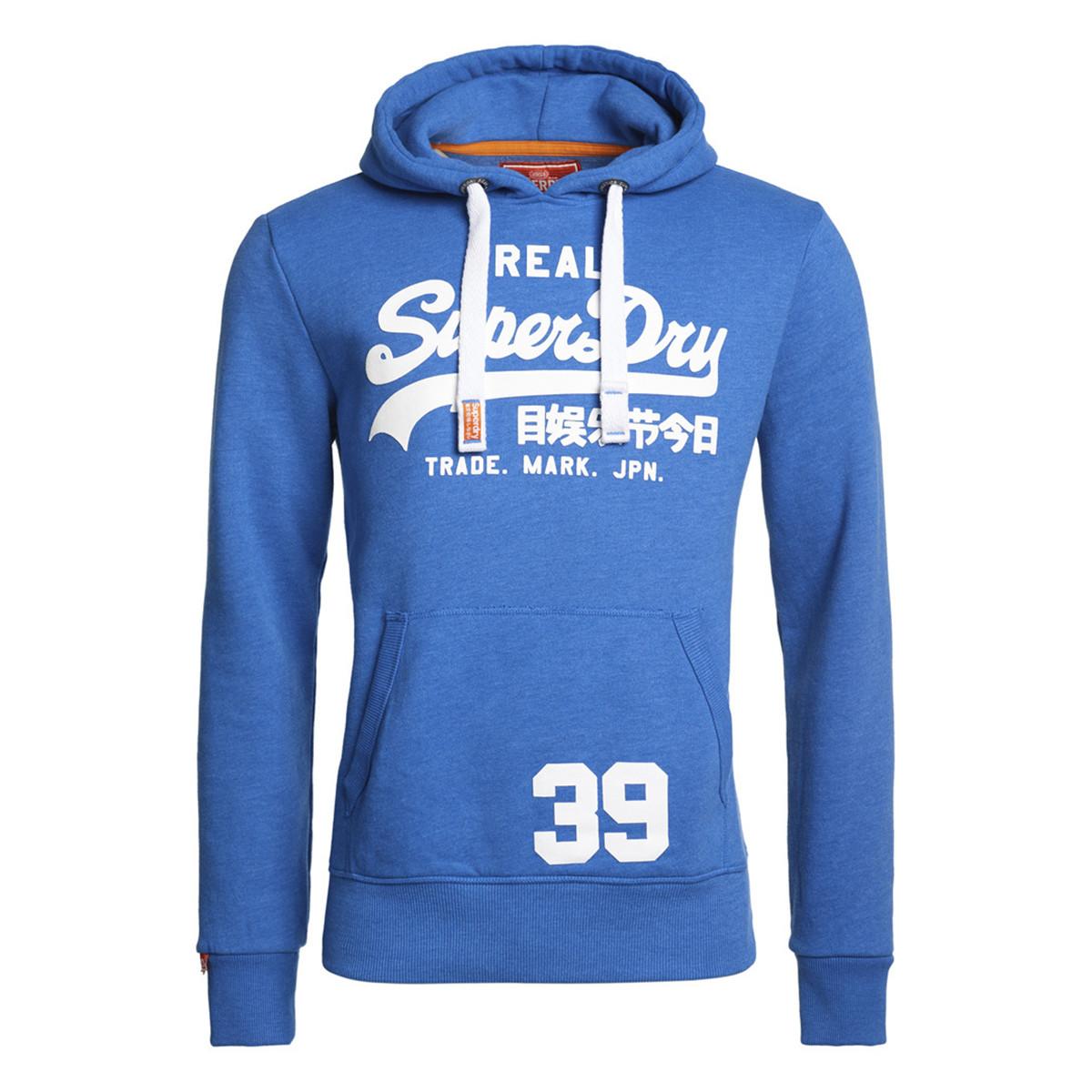 classic style best sneakers great deals Vintage Logo Entry Sweat Capuche Homme SUPERDRY BLEU pas ...
