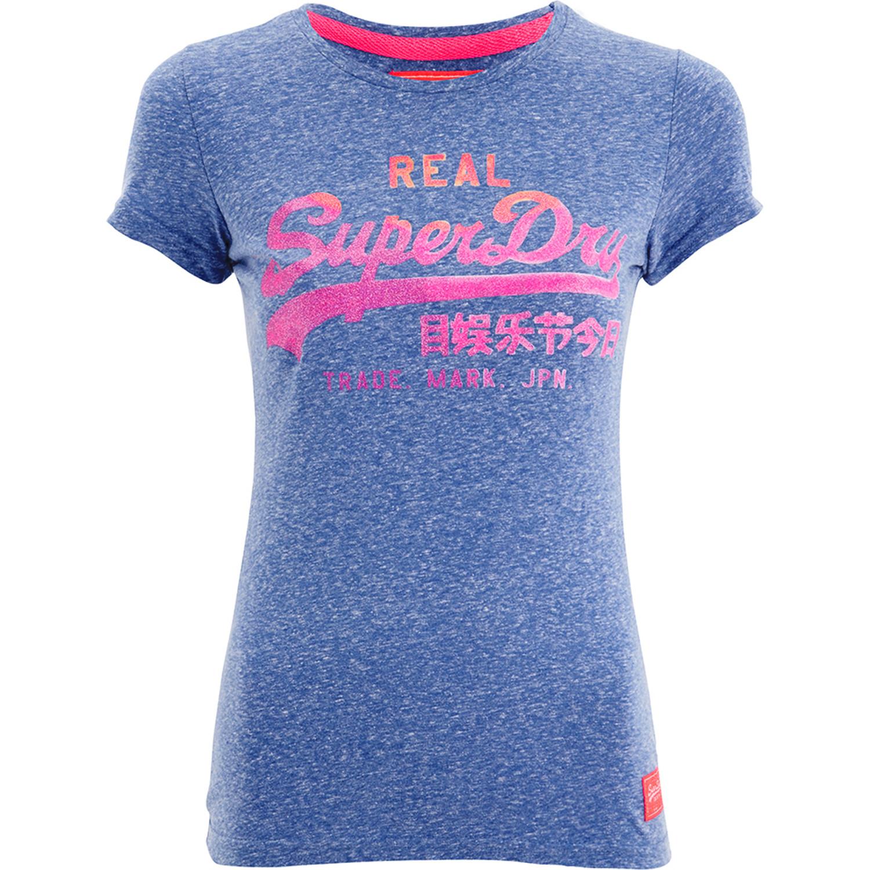 Vint Logo Water T-Shirt Mc Femme