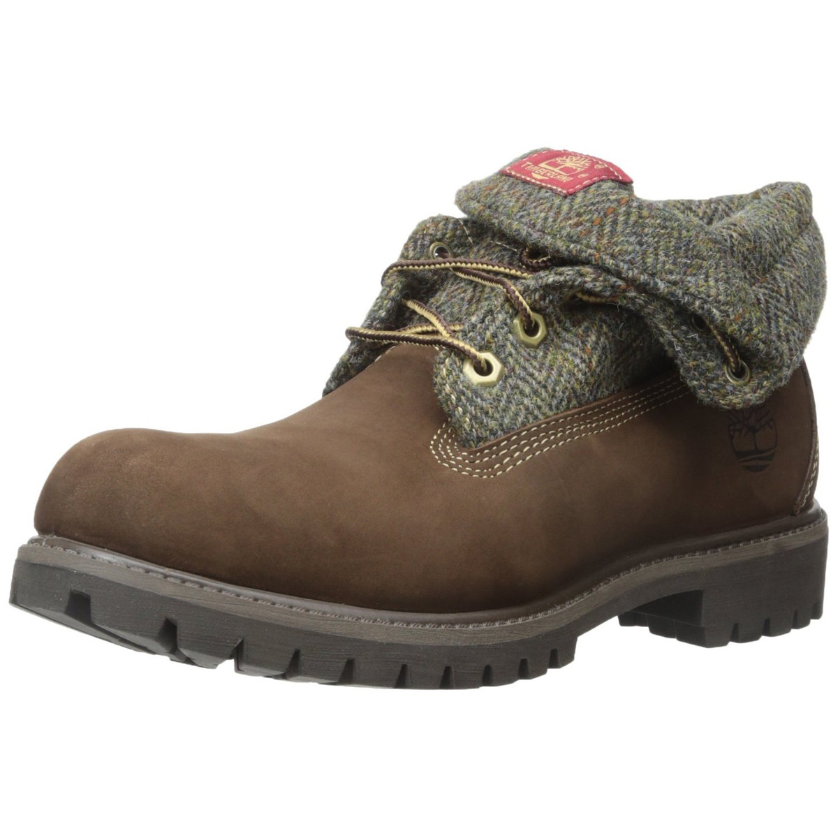 Homme Ff TIMBERLAND MARRON pas Roll Top Chaussures cher kXZiPu