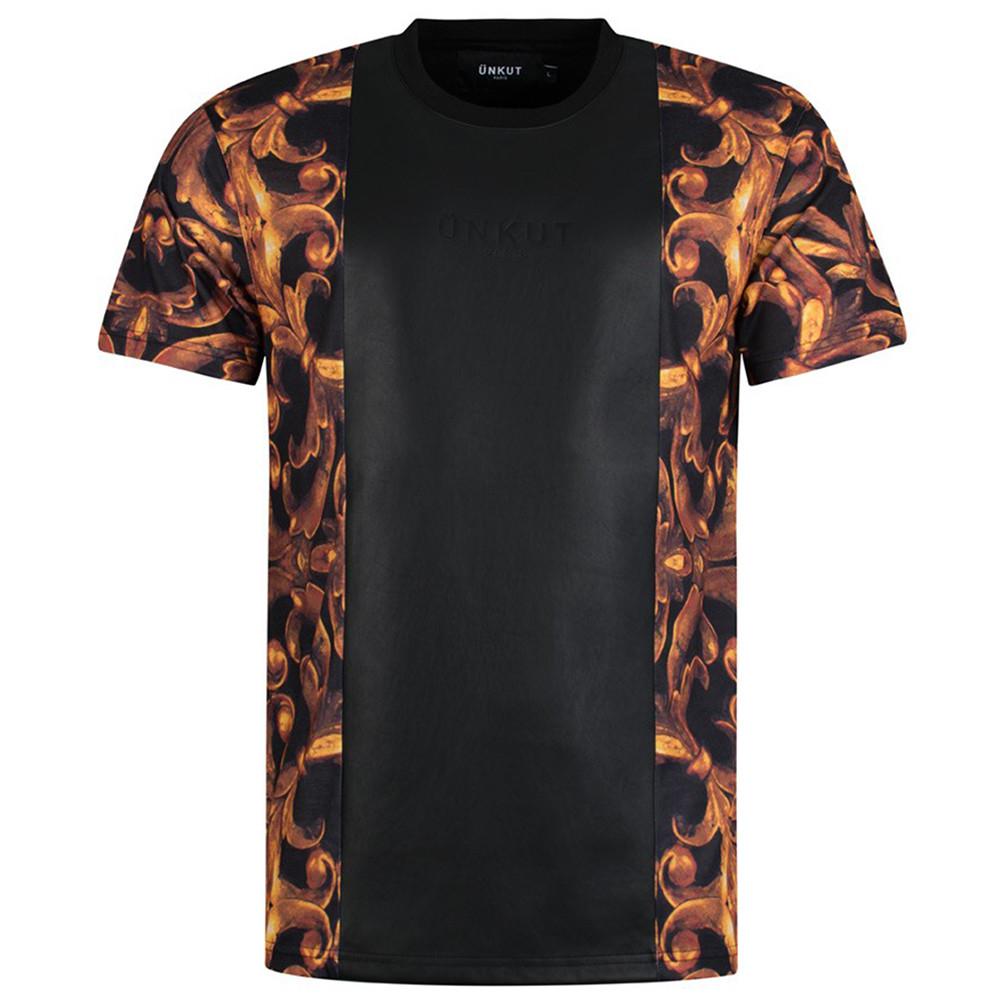 Bling T-Shirt Mc Homme UNKUT NOIR pas cher
