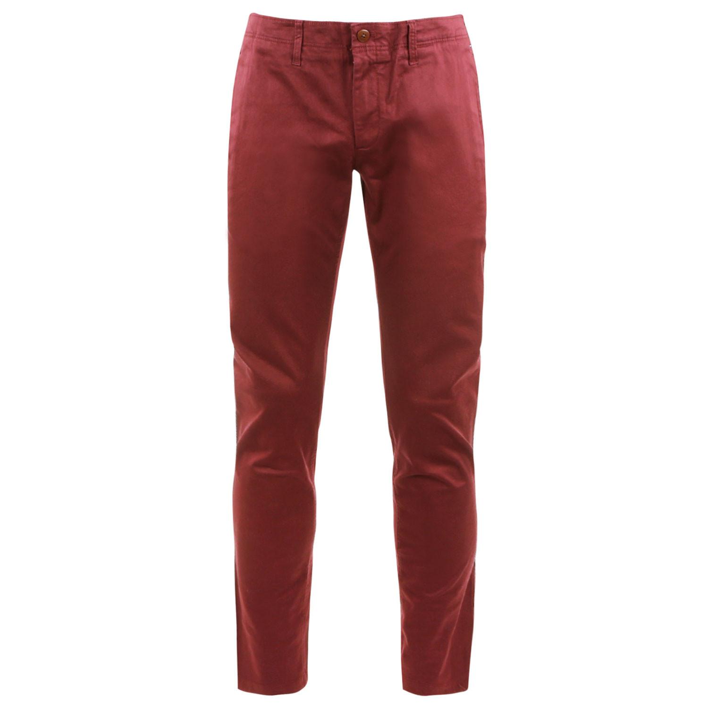Basic Str Pantalon Chino Homme TOMMY HILFIGER ROUGE pas cher
