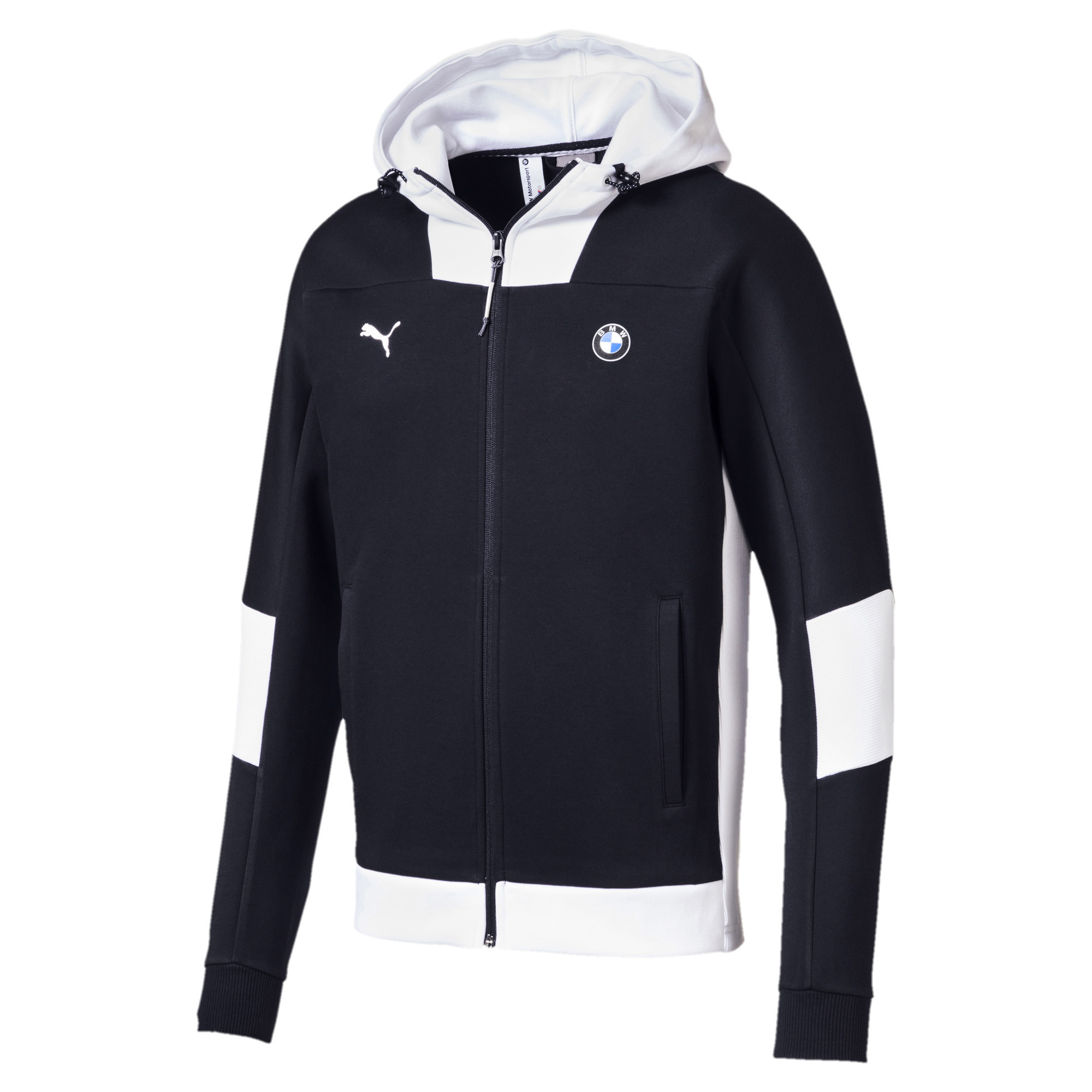 Bmw Ms Hdd Sweat Zip Cap Homme PUMA BLEU pas cher Sweats