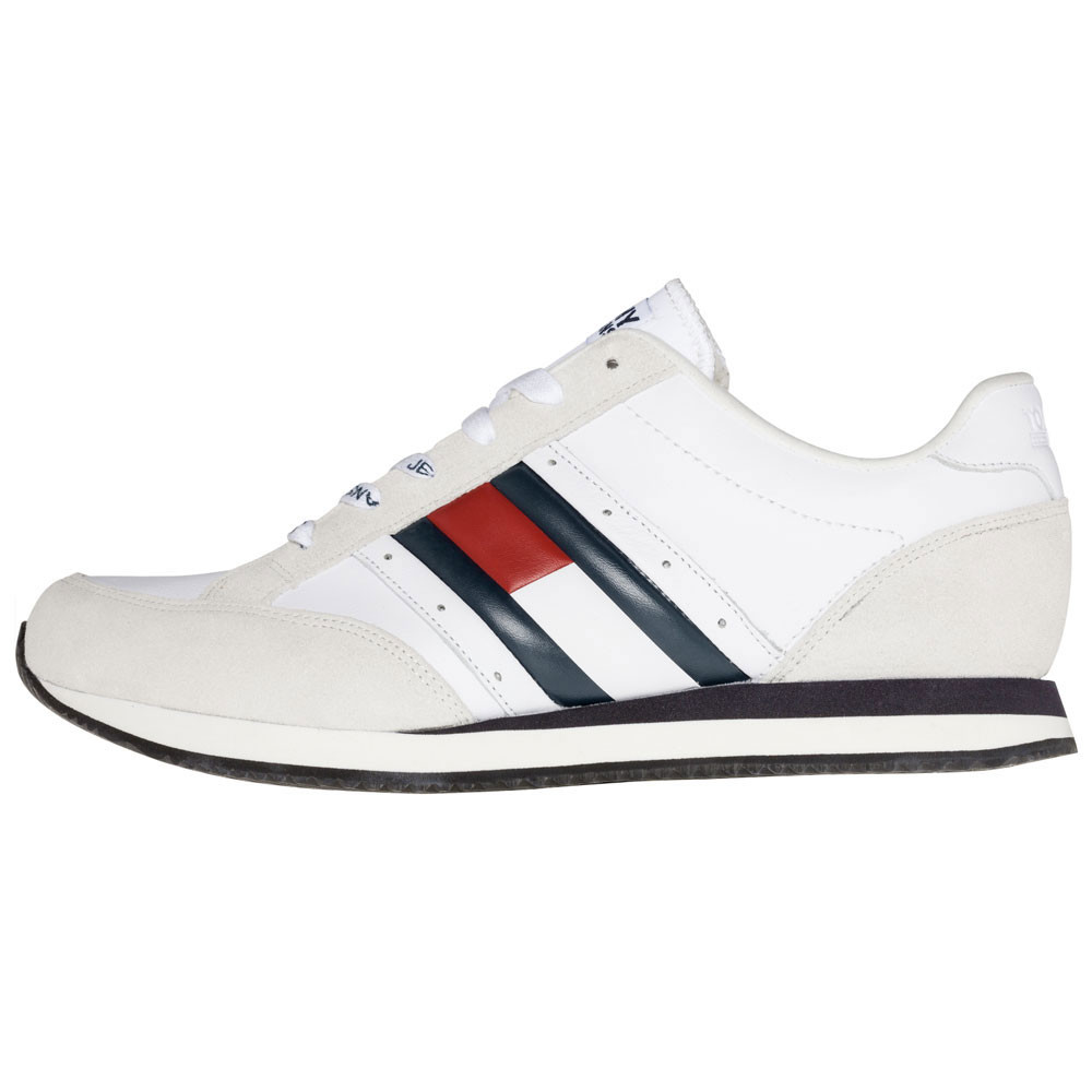 ca7ee947ad988e Casual Retro Chaussure Homme TOMMY HILFIGER BLANC pas cher ...