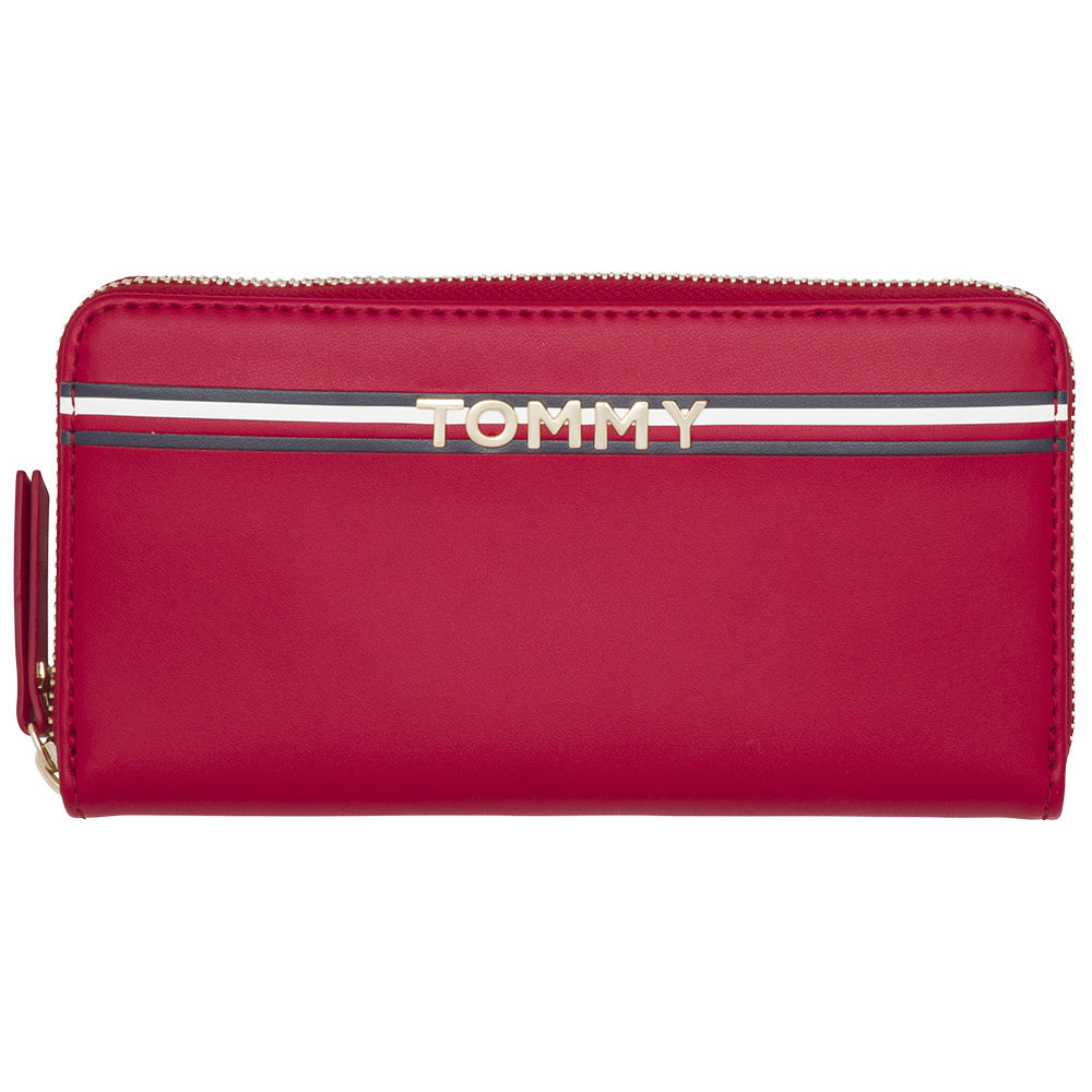 Corp Leather Za Wall Portefeuille Femme Tommy Hilfiger Rouge Pas