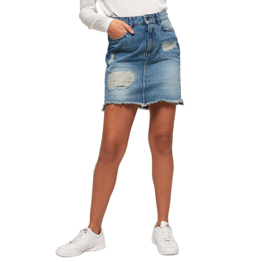 Denim Mini Jupe Femme