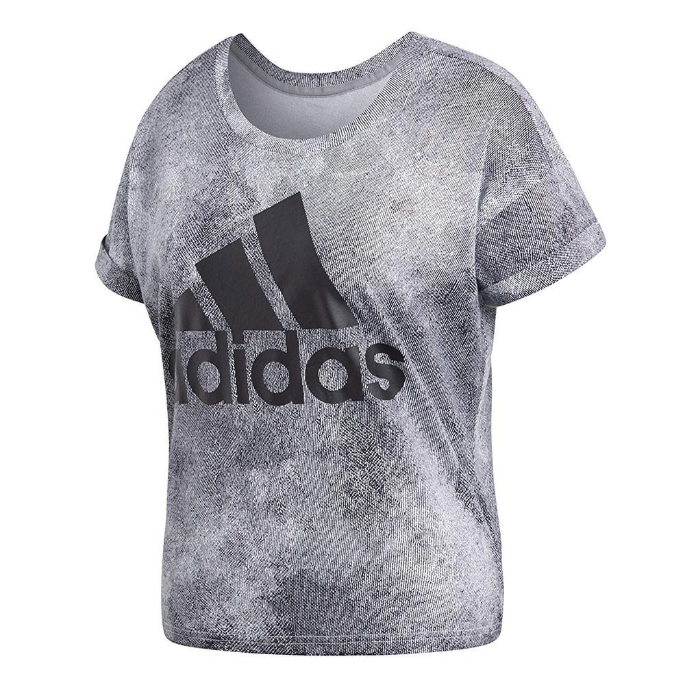 adidas t shirt gris femme