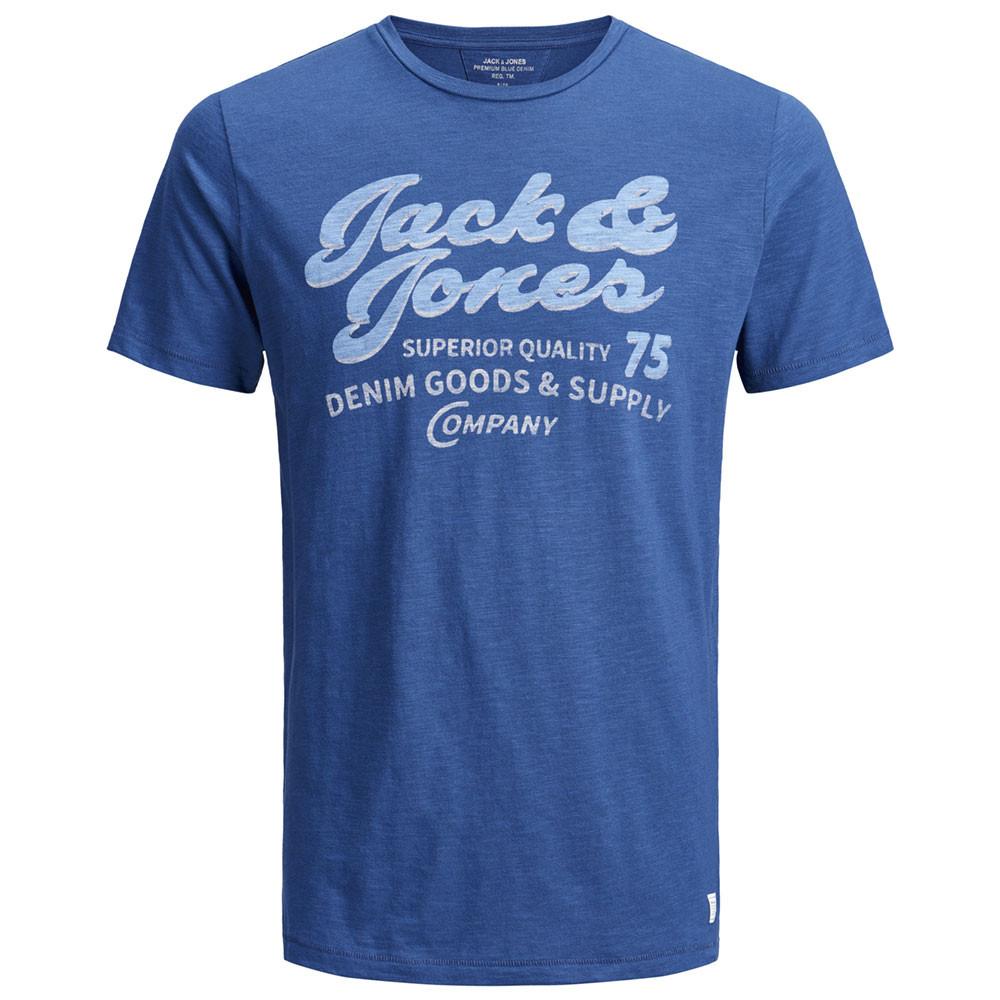 Jprsuper Blu T-Shirt Mc Homme