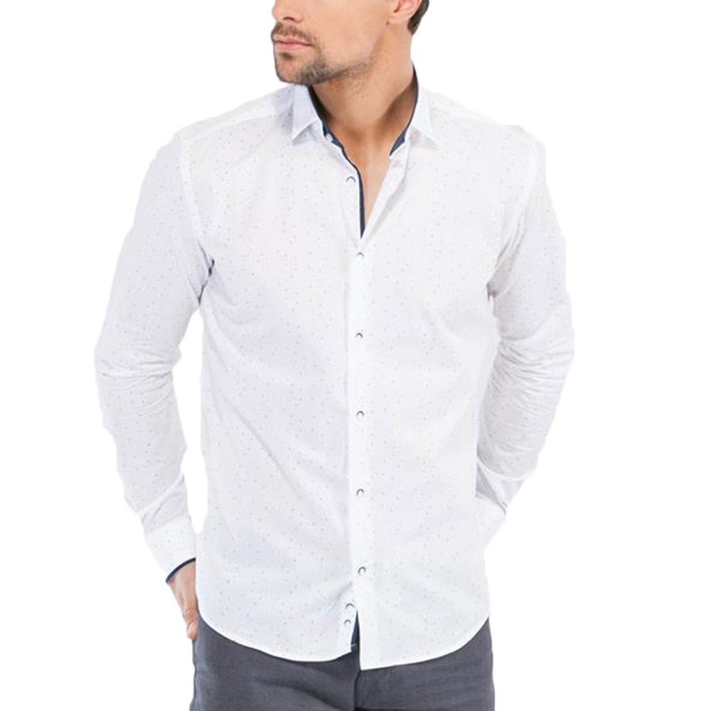 new york super popular preview of Linkin Chemise Ml Homme BENSON AND CHERRY BLANC pas cher ...