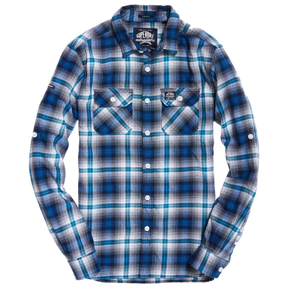 Lumberjack Lite Ls Shirt Chemise Ml Homme SUPERDRY BLEU pas