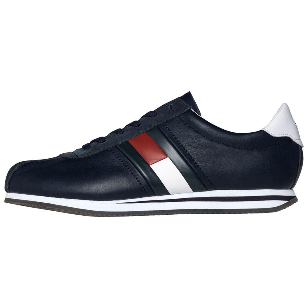 Retro Hilfiger Bleu Flag Sneakers Tommy Homme Cher Chaussure Pas gYvf7b6y