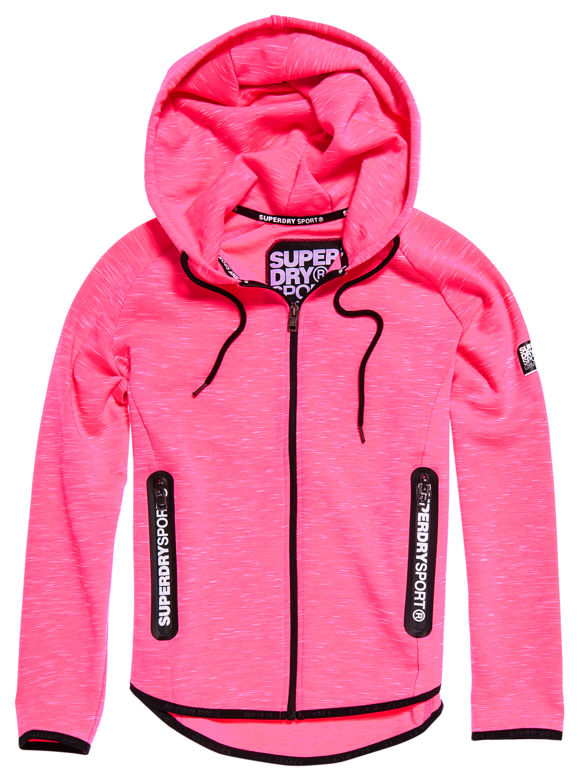 Sd Sport Gym Tech Luxe Sweat Zip Femme SUPERDRY ROSE pas