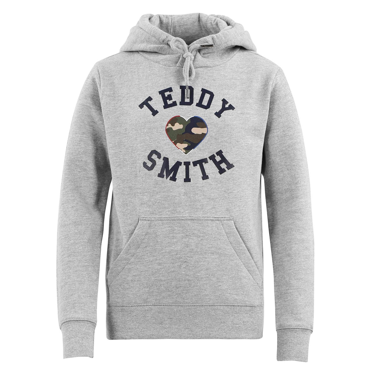 Sofrench Sweat Cap Fille TEDDY SMITH GRIS pas cher Sweat à