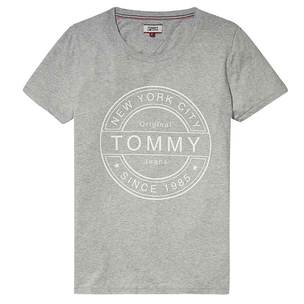 Stamp Logo T-Shirt Mc Femme TOMMY HILFIGER GRIS pas cher - T-shirts ... 0f20ca68f087