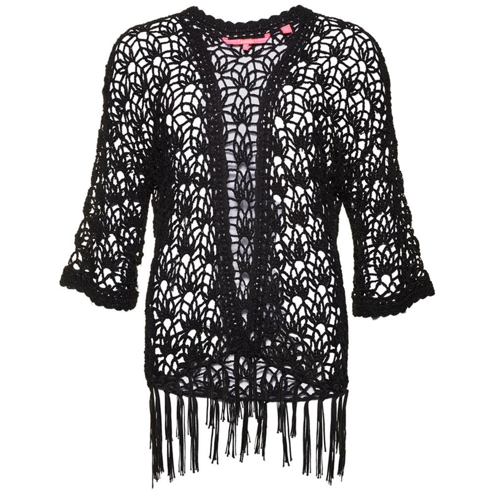 Sunset Crochet Kimono Gilet Femme