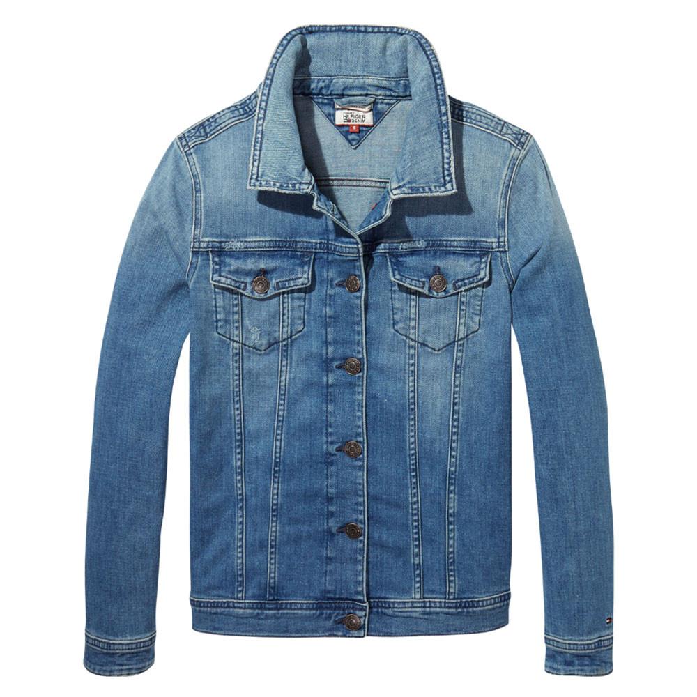 Tjw Vivianne Slim Trucker Jacket Veste En Jean Femme Tommy