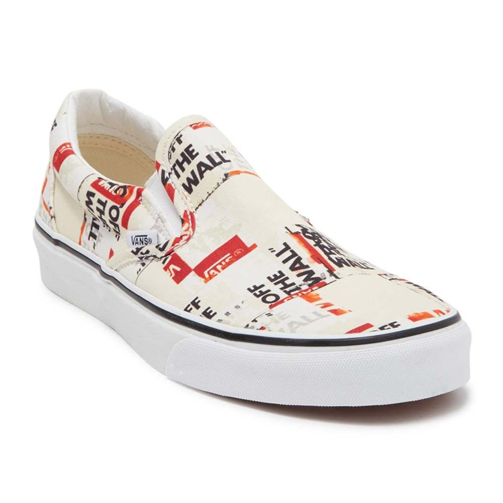 Ua Classic Slip-On Chaussure Homme VANS BLANC pas cher - Baskets ...