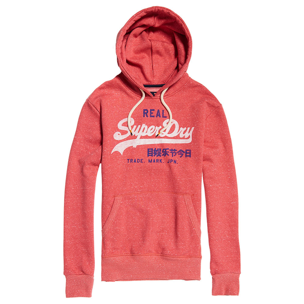 Vintage Logo Duo Hood Sweat Cap Homme SUPERDRY ROUGE pas