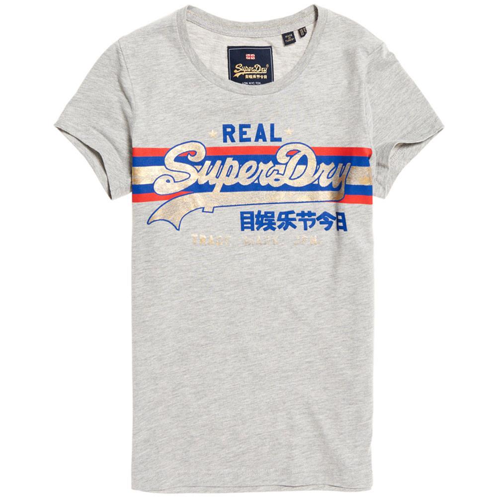 Vintage Logo Foil Stripe Entry T-Shirt Mc Femme