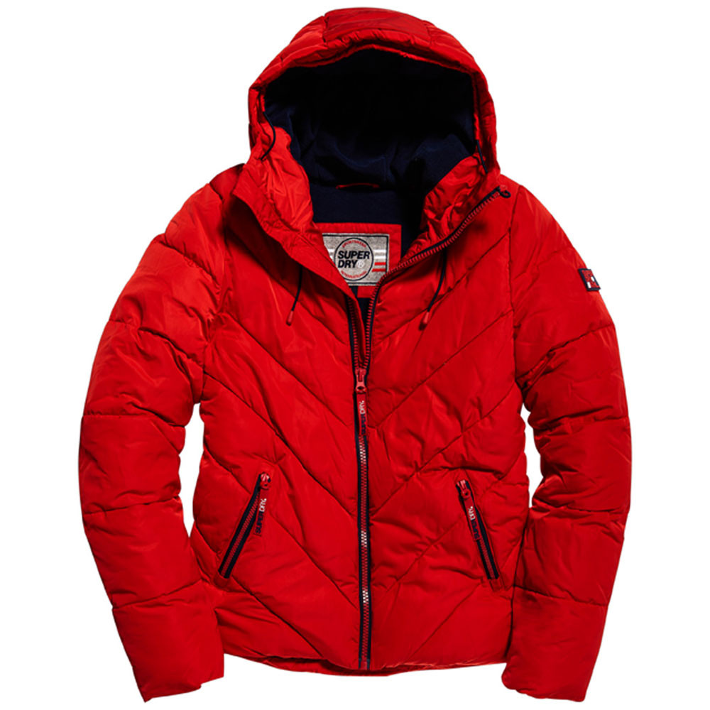 Xenon Padded Doudoune Homme SUPERDRY ROUGE pas cher