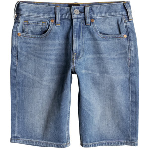 Washed Straight Short Jean Garçon