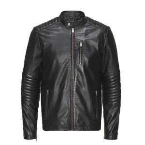 Leather Blouson Homme