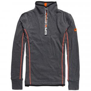 Gym Sport Runner Zip Henley Sweat Homme