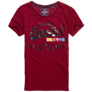 Rainbow Pop Shrt Shp Entry T-Shirt Mc Femme